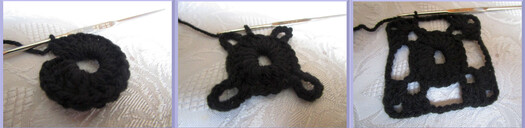 MON PONCHO NOIR au crochet