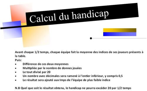 Calcul de Handicap