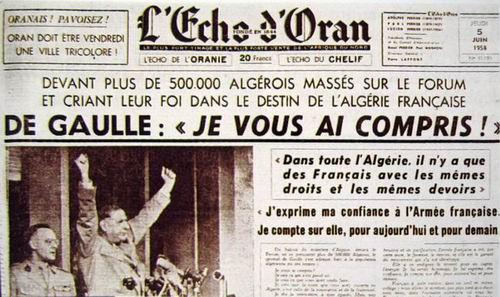 """Benjamin Stora revient  sur la phrase historique  du général de Gaulle  du 4 juin 1958  """" Je vous ai compris """""""