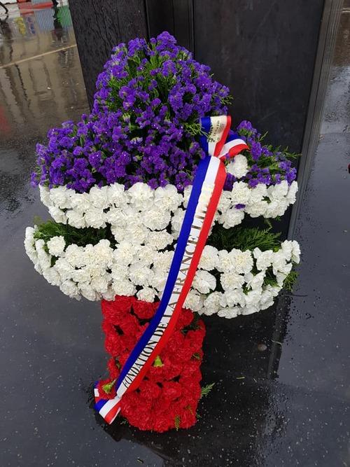 Paris - Cérémonie du souvenir le 10 novembre 2018  -  Les anciens de la 1ere DFL honorent leurs morts