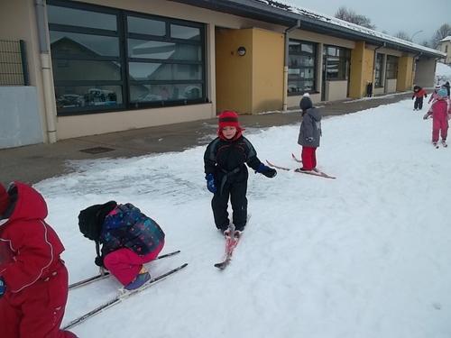Première séance de ski