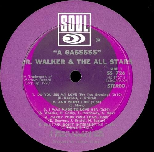 "Jr. Walker & The All Stars : Album "" A Gasssss "" Soul Records SS 726 [ US ]"