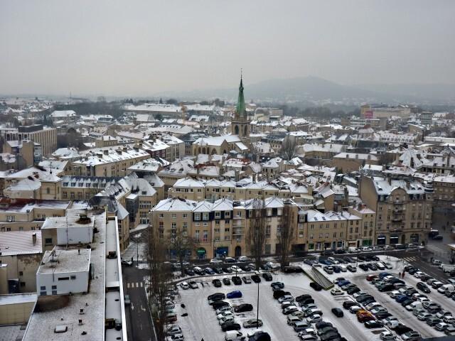 Vue aérienne de Metz janvier 1 09 01 2010