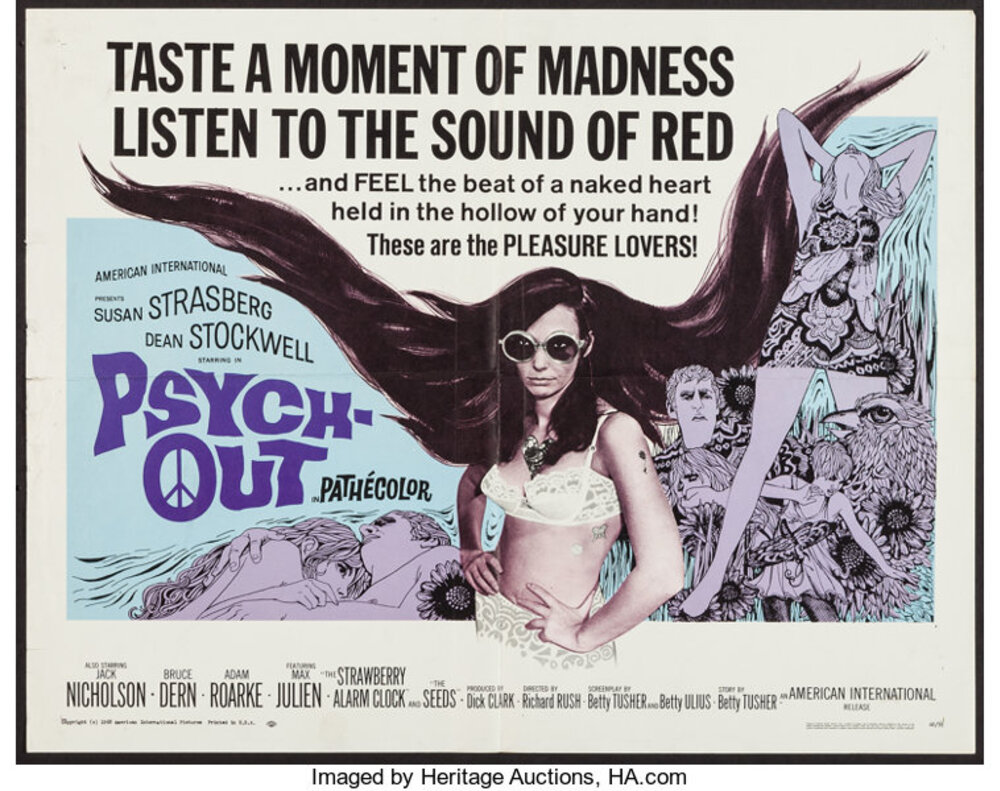 PSYCH OUT BOX OFFICE USA 1968