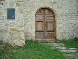 --- Cobonne porte d'entrée de l'église - 1 octobre 2016 ---