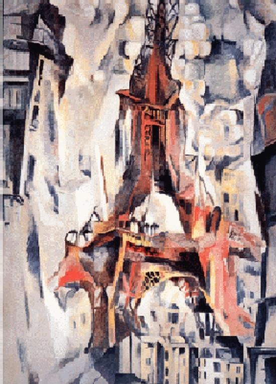 Robert Delaunay, La Tour Eiffeil, 1911