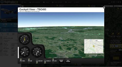 Flight radar 24 en vue 3D