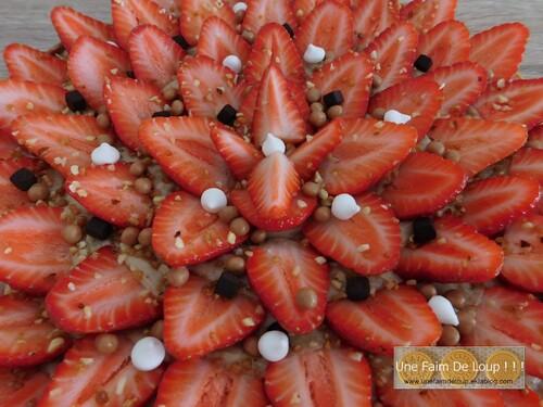 Tarte aux fraises & crème pralinée