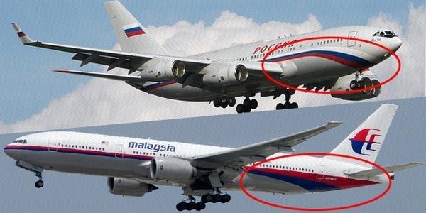 L'avion de Poutine quasi identique au MH17 est passé au même endroit 37 minutes avant