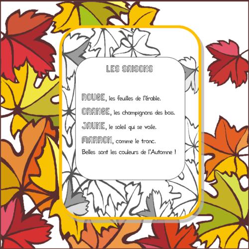"""Poésie """"Les saisons"""""""