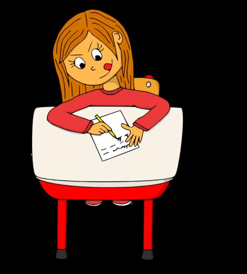 Dessin - La dictée ou l'écriture