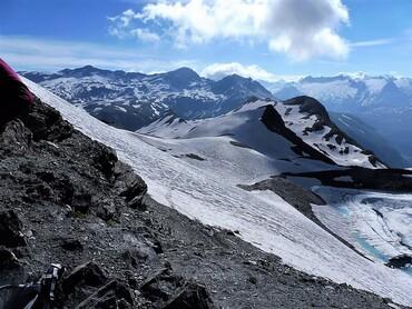 Vue du Col des Fours (2976 m)
