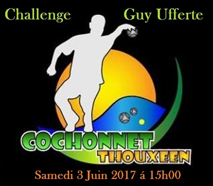 1er Challenge Guy Ufferte Thoux 2017.