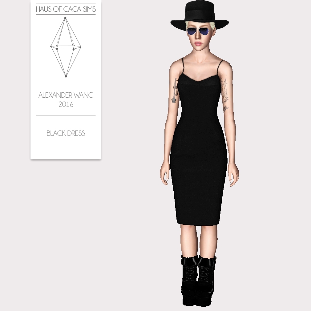 ALEXANDER WANG 2016 BLACK DRESS
