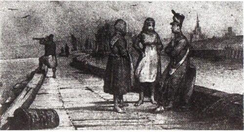 La jetée de Calais au début du 19me siècle