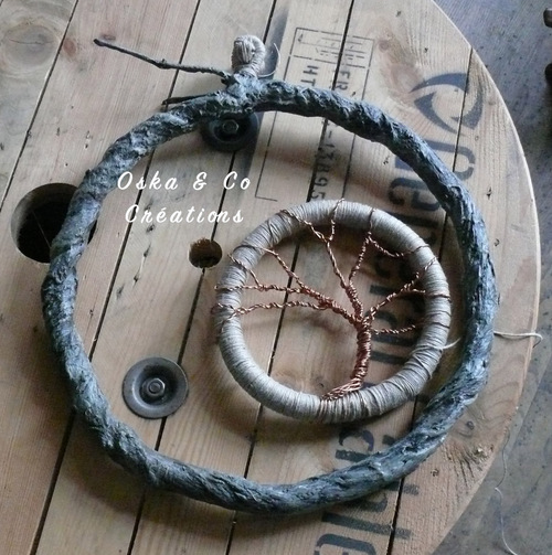 DIY dream catcher XXL et son arbre de vie en cuivre tuto en photos