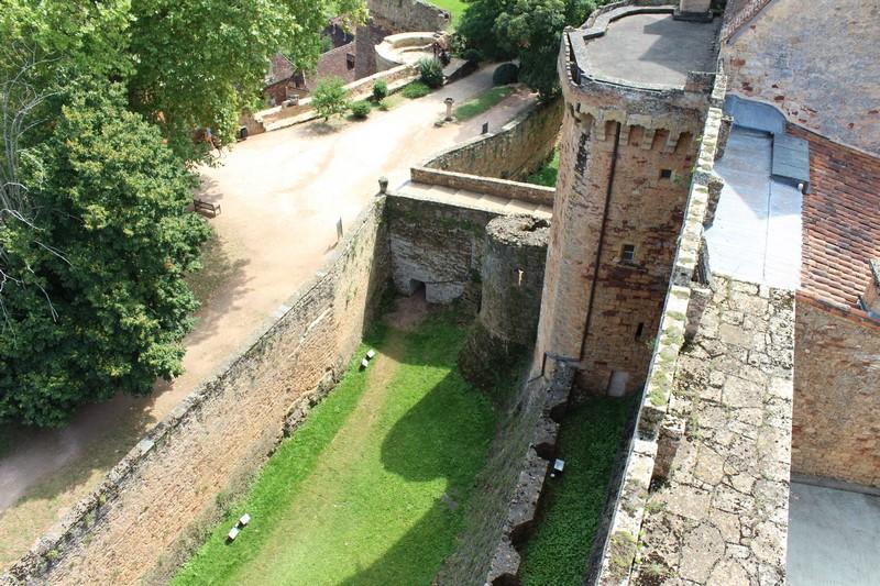 Sur la terrasse du château
