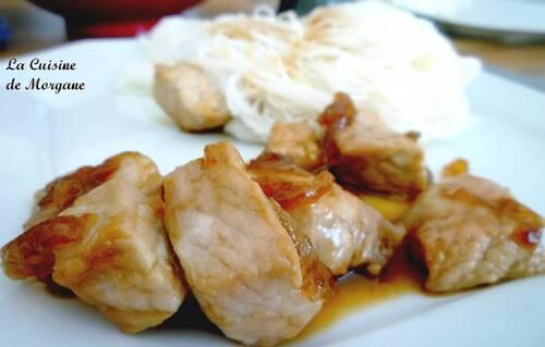 Porc au caramel (recette rapide)