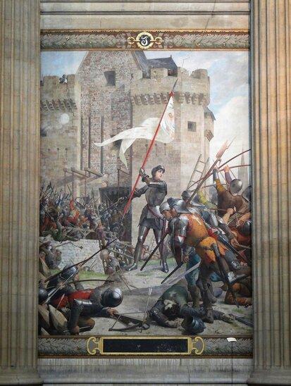 Une des peintures de la vie de Jeanne d'Arc au Panthéon, Paris