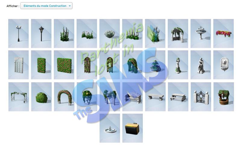 Kit d'objets : Jardin Romantique