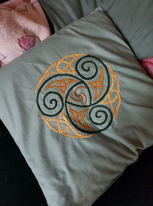 Coussin motif celtique