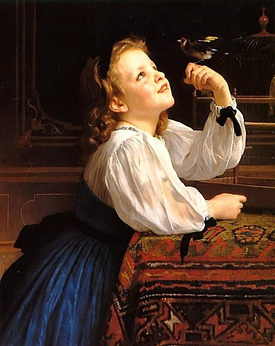 William Bouguereau - Dear Bird 1867