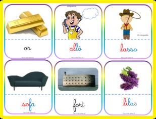 Taoki -nomenclature-dictées muettes-mot-image: en cartes à la Montessori