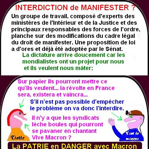 Le dictateur Macron se met en place