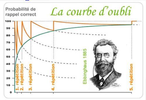 Expérimentation sur la courbe de l'oubli: résultats