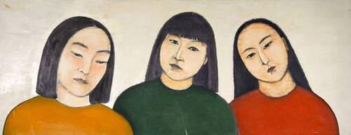 autres portraits en peinture et en triple, au féminin
