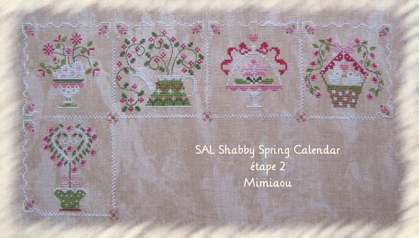 SAL Shabby spring calendar étape 2