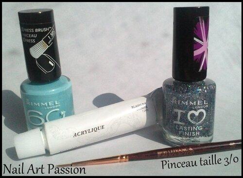 Nail art arabesques pailletées (+ swatch) !