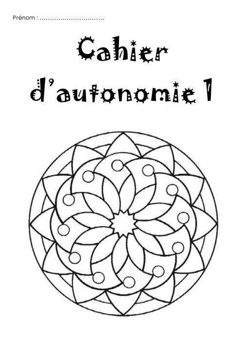 Cahier d'autonomie