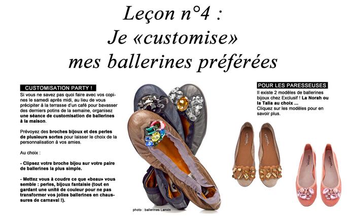 Leçon n°4 : Je customise mes ballerines préférées