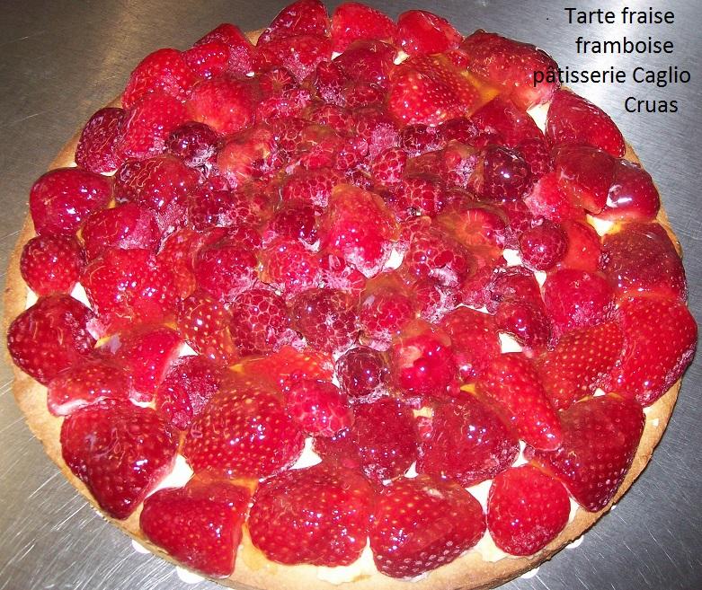 Tartes  fraise framboise