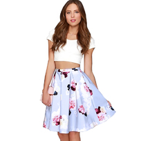 Image result for crop top and skirt
