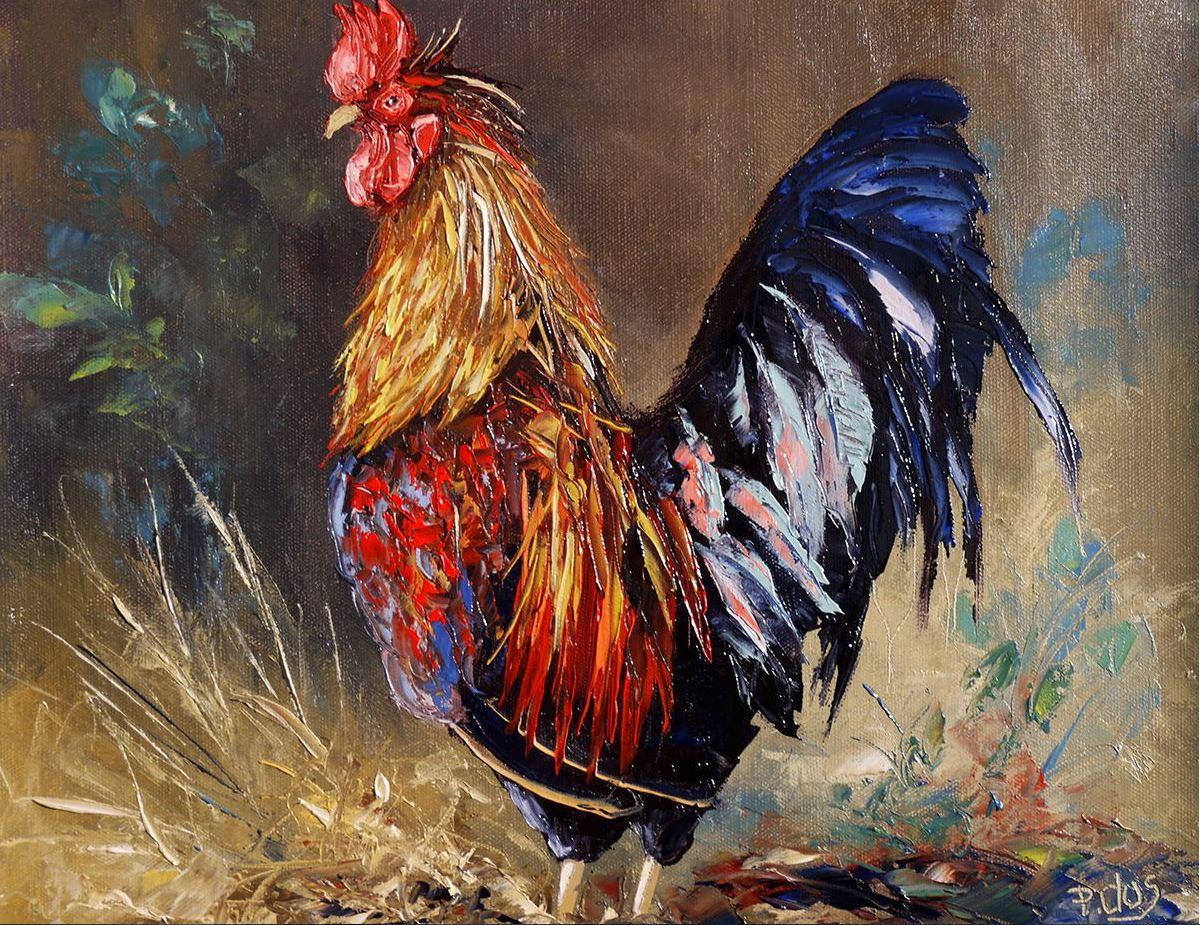 Dessin Et Peinture   Vidéo 1414 : Comment Peindre Des Coqs, à La Peinture à  · «