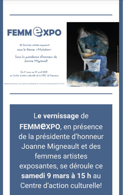 Jacinthe Richard et Marthe Villeneuve expose à St-André d'Avellin