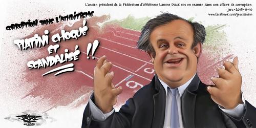 JERC 2015-11-10, La corruption, ce n'est pas comme si les athlètes se dopaient ! www.facebook.com/jercdessin Cliquer sur la photo pour voir en plus grand.