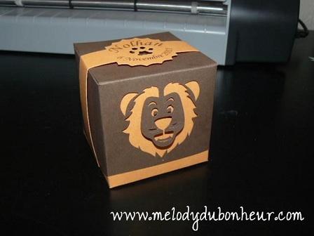 """Prototype boite à dragees """"lion"""""""