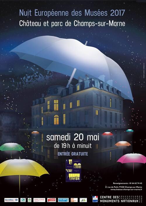 Samedi prochain c'est la nuit des musées, venez nombreux au Château de Champs-sur-marne , pourvu que la pluie reste sage et qu'elle reste dans ses nuages...
