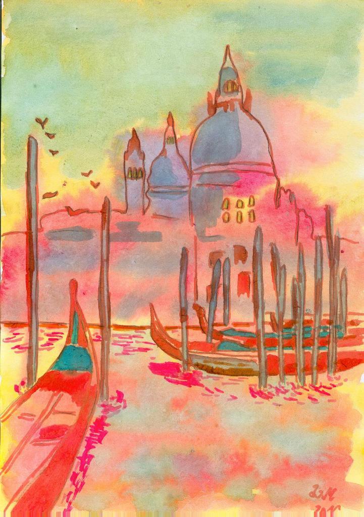 aquarelle Venise mystérieuse jeu Khanel