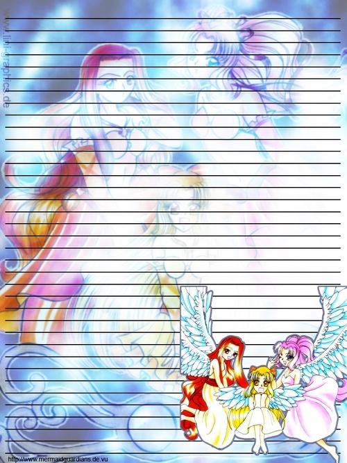 Papier à lettre Rhapsody,Hikari et Rose