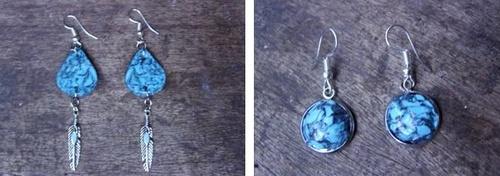 Bijoux imitation pierre de turquoise
