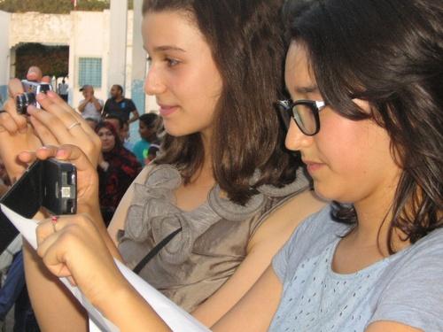 Tej et Maha le jour de fête fin d'année 2012