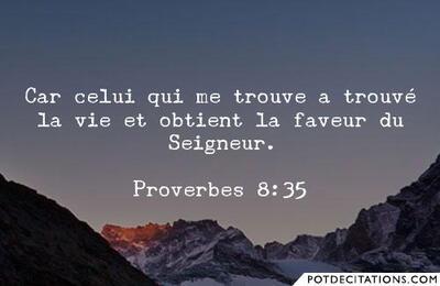 Proverbes 8 - Lecture et Prière