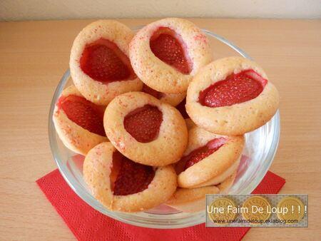 """Minis moelleux aux fraises façon """"Barquette de Lu"""""""