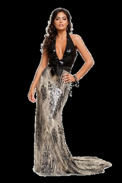 Femme en robe de soirée / 13