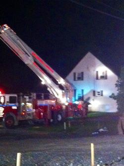 Incendie dans une maison de la rue Principale à Lambton