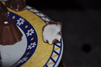 Chocolat au coeur nougat